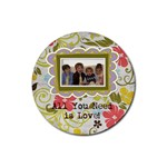 Spring Easter Floral Coasters - Rubber Round Coaster (4 pack)