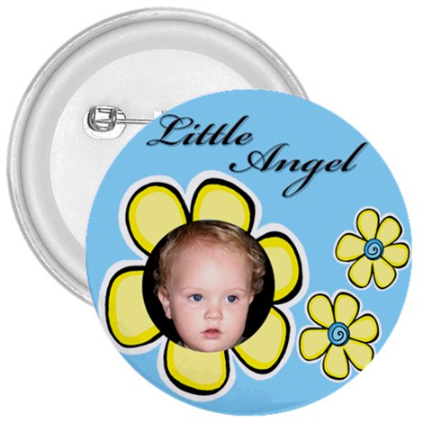 Little Angel Button By Deborah   3  Button   942bvl8kt80q   Www Artscow Com Front