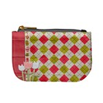 Spring Pink Argyle Plaid Coin Purse - Mini Coin Purse