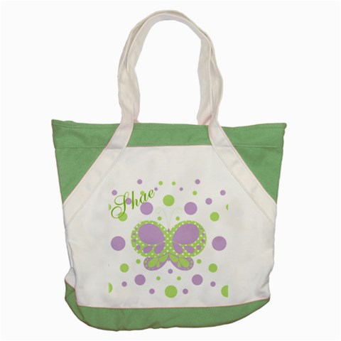 Butterfly Dots Purple Green Tote By Andreas Lil Pixels   Accent Tote Bag   18zv3l6kp5x2   Www Artscow Com Front