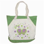 Butterfly Dots Purple-Green Tote - Accent Tote Bag