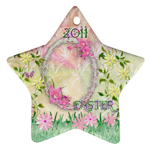 Easter 2011 Pastel Flower Ornament By Ellan   Ornament (star)   V9d9itug0t2q   Www Artscow Com Front