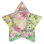 Easter 2011 Pastel Flower ornament - Ornament (Star)