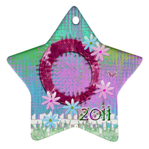 Easter2 2011 Pastel Flower Ornament By Ellan   Ornament (star)   26b03javydc3   Www Artscow Com Front