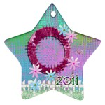 Easter2 2011 Pastel Flower ornament - Ornament (Star)