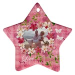 Love Hearts n Flowers Pastel ornament - Ornament (Star)