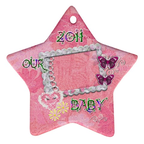 Our Baby 2011 Pastel Flower Ornament By Ellan   Ornament (star)   Injv0oh3z4as   Www Artscow Com Front