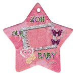 Our Baby 2011 Pastel flower ornament - Ornament (Star)