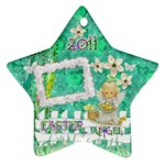 Easter Angel 2011 Pastel flower ornament - Ornament (Star)