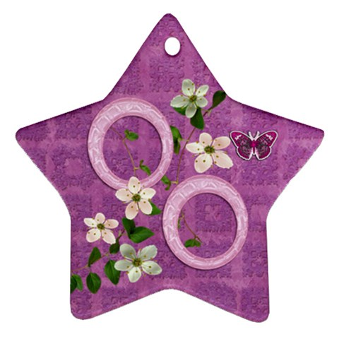 Purple Easter Angel 2011 Pastel Flower Ornament By Ellan   Ornament (star)   Slgfz8noxdif   Www Artscow Com Front