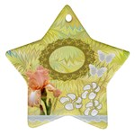 Golden Iris Pastel flower ornament - Ornament (Star)