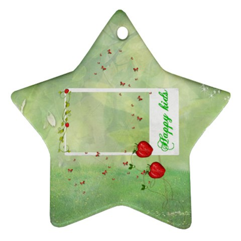 Happy Kids Ornament By Elena Petrova   Ornament (star)   Gqupwkwullnz   Www Artscow Com Front