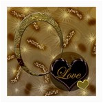 Love gold Glass Cloth Med - Medium Glasses Cloth