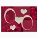 I Heart you Hot Pink Large Glass Cloth - Glasses Cloth (Large)
