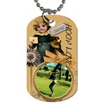 hoop love - Dog Tag (One Side)