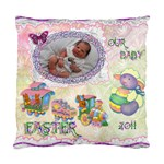 Easter 2011 Baby Train Crib Cushion Case - Standard Cushion Case (One Side)