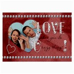 Crazy Love Large Glasses Cloth (1 Sided)