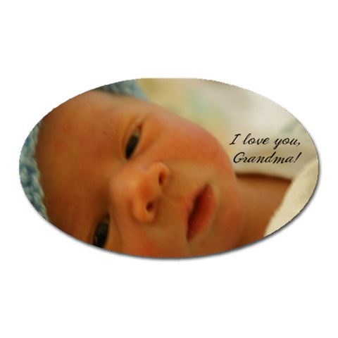 Grandma Magnet By Andrew Babel   Magnet (oval)   Uaria2fu6vgr   Www Artscow Com Front