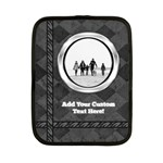 Small iPad or Netbook Sleeve, Photo Black Charcoal Design - Netbook Case (Small)