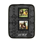 2 Photo small netbook or ipad 2 case, black and gray monogram - Netbook Case (Small)