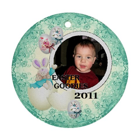 Easter Goodies Round Ornament By Lil    Ornament (round)   Hoo45ntr8ux9   Www Artscow Com Front