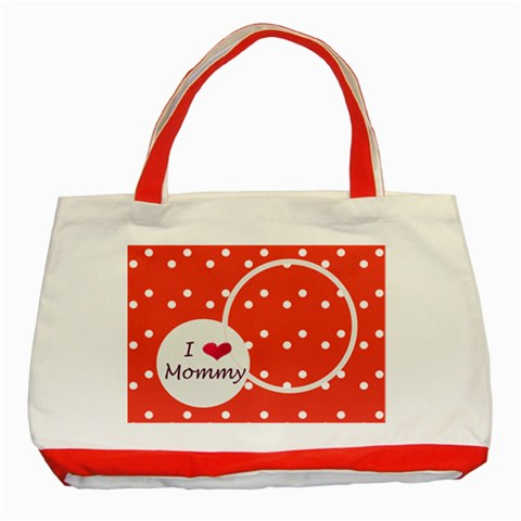 Love Mommy Red Tote By Daniela   Classic Tote Bag (red)   C0pejzl09h63   Www Artscow Com Front