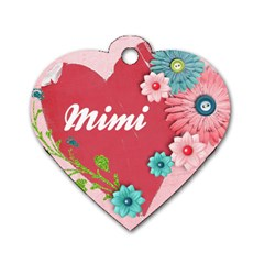 Mimi s Name Tag By Tzu Han Catherine Chen   Dog Tag Heart (two Sides)   T492n1kljv4c   Www Artscow Com Front