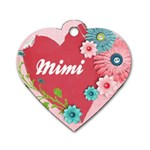 Mimi s name tag - Dog Tag Heart (Two Sides)