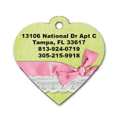 Mimi s Name Tag By Tzu Han Catherine Chen   Dog Tag Heart (two Sides)   T492n1kljv4c   Www Artscow Com Back