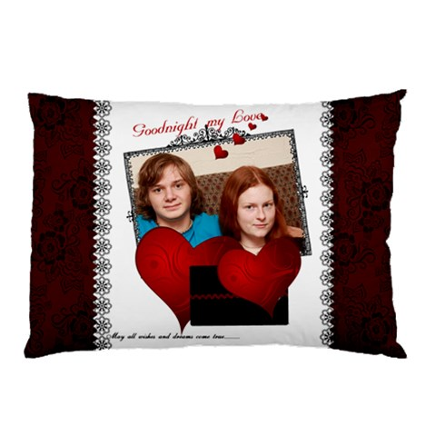 Elizabeth And Kameron Pillowcase By Barb Hensley   Pillow Case   Pd4r8dspfvrj   Www Artscow Com 26.62 x18.9 Pillow Case