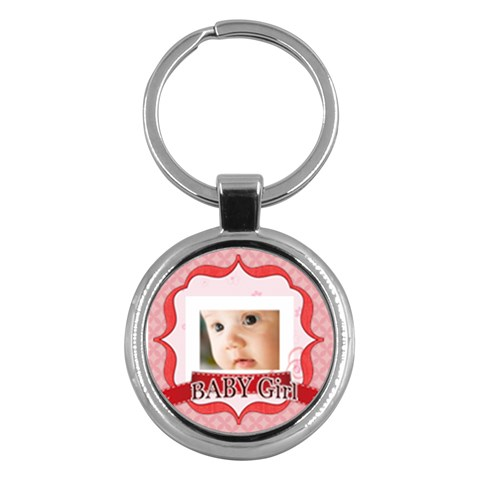 Baby Girl By Joely   Key Chain (round)   Ad4310gmcqd9   Www Artscow Com Front