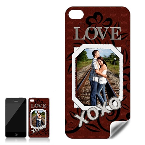 Love Xoxo Apple Iphone 4 Skin By Lil    Apple Iphone 4 Skin   Vci5zi9jqs4p   Www Artscow Com Front