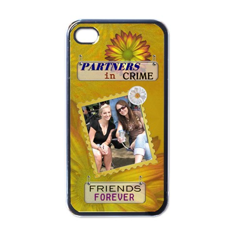 Friends Forever Apple Iphone 4 Case By Lil    Apple Iphone 4 Case (black)   Iweqie1zt335   Www Artscow Com Front