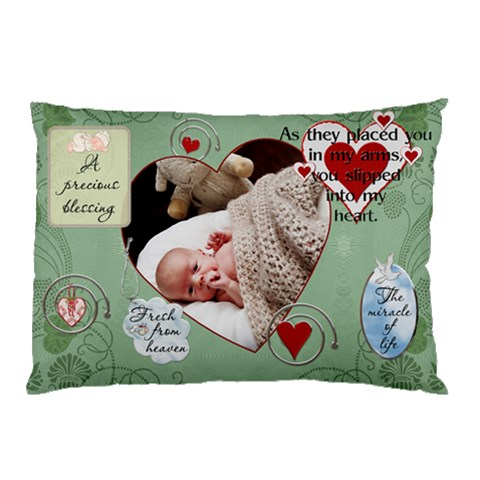 A Precious Blessing Pillow Case By Lil    Pillow Case   Zzkgu64nhr85   Www Artscow Com 26.62 x18.9 Pillow Case