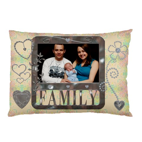 Family Love Pillow Case By Lil    Pillow Case   Q9kia7ernh1x   Www Artscow Com 26.62 x18.9 Pillow Case