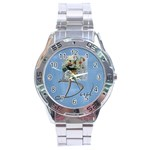 Dad Stainless Steel Watch - Stainless Steel Analogue Men's Watch