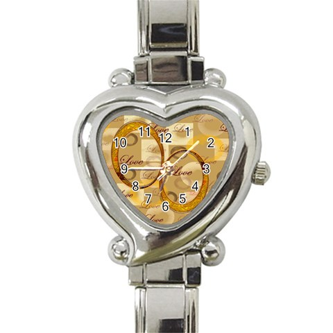 I Heart You Gold Custom Heart Italian Charm Watch By Ellan   Heart Italian Charm Watch   Z6idls3c3hqw   Www Artscow Com Front