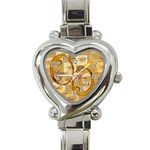I Heart You Gold Custom Heart Italian Charm Watch
