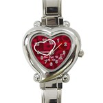You Light Up My Life Pink Custom Heart Italian Charm Watch