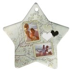 Love wedding white gold star ornament - Ornament (Star)