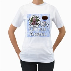 My Little Angel Boy Woman s T Shirt By Chere s Creations   Women s T Shirt (white) (two Sided)   Ax2nwrhwm4jk   Www Artscow Com Front