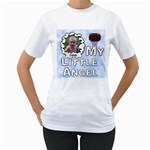 My Little Angel Boy Woman s T-shirt - Women s T-Shirt (White) (Two Sided)