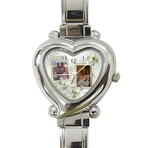 Wedding Love Italian Heart Watch By Ellan   Heart Italian Charm Watch   A1kojtyhpaf7   Www Artscow Com Front