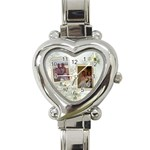 Wedding Love Italian Heart Watch - Heart Italian Charm Watch