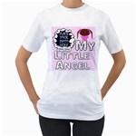 My Little Angel Girl Woman s T-shirt - Women s T-Shirt (White) (Two Sided)