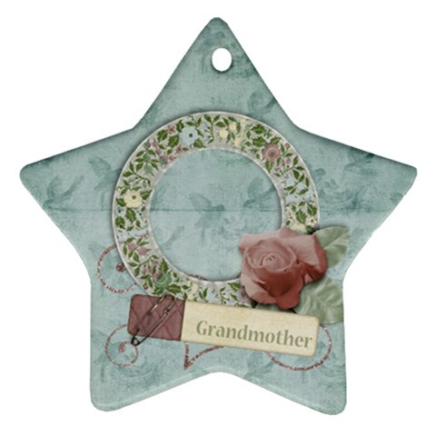 Grandmother Star Ornament By Mikki   Ornament (star)   T16a2xxczhkc   Www Artscow Com Front