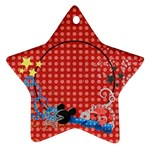 Our vacation/magic, star ornament - Ornament (Star)