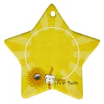 First Tooth, star ornament - Ornament (Star)