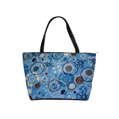 Blue Nautical Shoulder Bag By Bags n Brellas   Classic Shoulder Handbag   Tg5uz1mart6l   Www Artscow Com Front