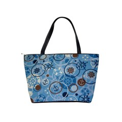 Blue Nautical Shoulder Bag By Bags n Brellas   Classic Shoulder Handbag   Tg5uz1mart6l   Www Artscow Com Back